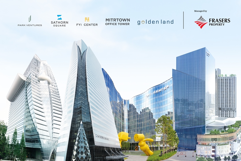 Frasers Property Commercial (Thailand), the leading Grade A commercial property developer in Bangkok's CBD, reveals robust performance of its office rental business  resulting from the customers retention strategy.