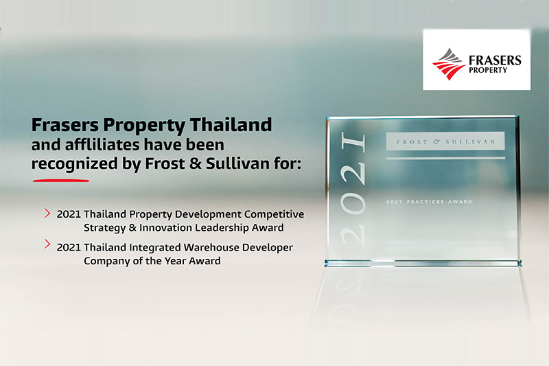 Frasers Property Thailand recognized as the most prominent and innovative real estate platform in Thailand by Frost & Sullivan
